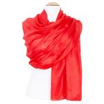étole en soie rouge pour femme