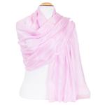 étole en soie rose pour femme