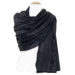 étole en soie noir  pour femme