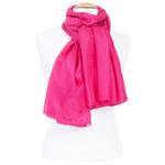 etole femme en soie rose fushia