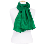 etole femme en soie verte