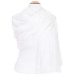 étole en soie blanc pour femme
