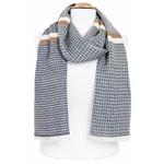 foulard homme coton noir beige  losanges