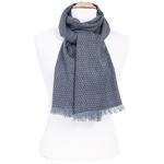 foulard homme  noir motifs losanges
