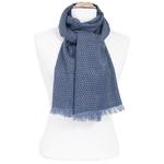 foulard homme  bleu  motifs losanges