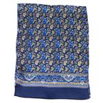 foulard en soie pour homme bleu marine laurent