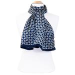 foulard bleu marine soie homme Lionel