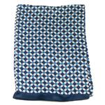 foulard en soie pour homme bleu marine Lionel