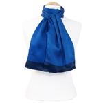 foulard homme soie bleu roi Antoine