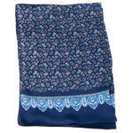foulard pour homme en soie bleu marine paisley frise