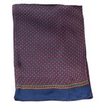 foulard en soie pour homme bleu marine Lucas