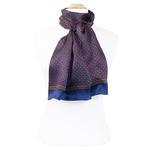 foulard bleu marine soie homme Lucas