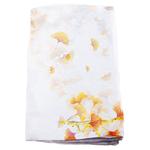 étole jaune mousseline de soie femme ginkgo