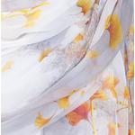 étole jaune pour femme mousseline de soie ginkgo
