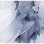 étole noir blanc pour femme mousseline de soie lotus