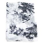 etole blanc en soie pour femme fleurie