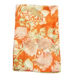 étole femme en soie imprimée orange Clarisse