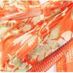 étole orange soie pour femme Clarisse