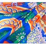 étole bleu soie pour femme Gaelle
