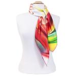 foulard  soie femme tulipes