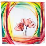 foulard carré en soie femme tulipes
