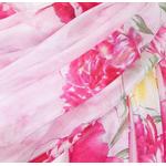 étole soie naturelle rose pivoines