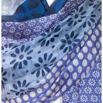 étole soie naturelle bleu Hena
