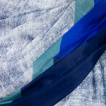 étole soie naturelle bleu marine Enara