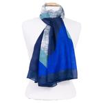 étole soie pour femme bleu marine Enara