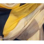 étole soie naturelle jaune Erika