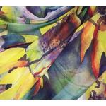 étole soie naturelle multicolore tournesols