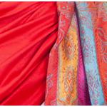 étole pashmina rouge clair pour femme