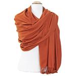 étole femme cachemire et laine orange brique