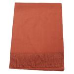 étole cachemire et laine orange brique pour femme