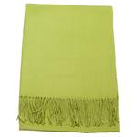 étole cachemire et laine vert tendre pour femme