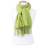 étole vert tendre cachemire et laine