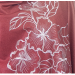 chale rouge beige en laine brodé pour femme