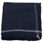 chale carré noir laine pour femme
