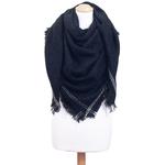 chale femme noir  carré en laine