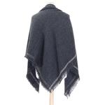 chale en laine carré gris pour femme