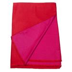 étole chale réversible rouge et fushia pour femme