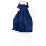 foulard homme en soie émilien bleu marine