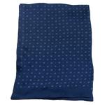 foulard bleu marine homme en soie émilien