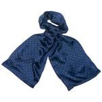 foulard soie homme bleu marine émilien