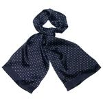 foulard soie homme noir émilien