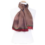 foulard homme en soie lucas rouge