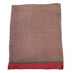 foulard rouge homme en soie lucas