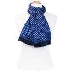 foulard homme en soie louis bleu