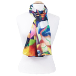 écharrpe foulard soie femme multicolore Allison