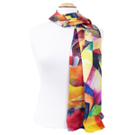 foulard écharpe soie femme multicolore Allison